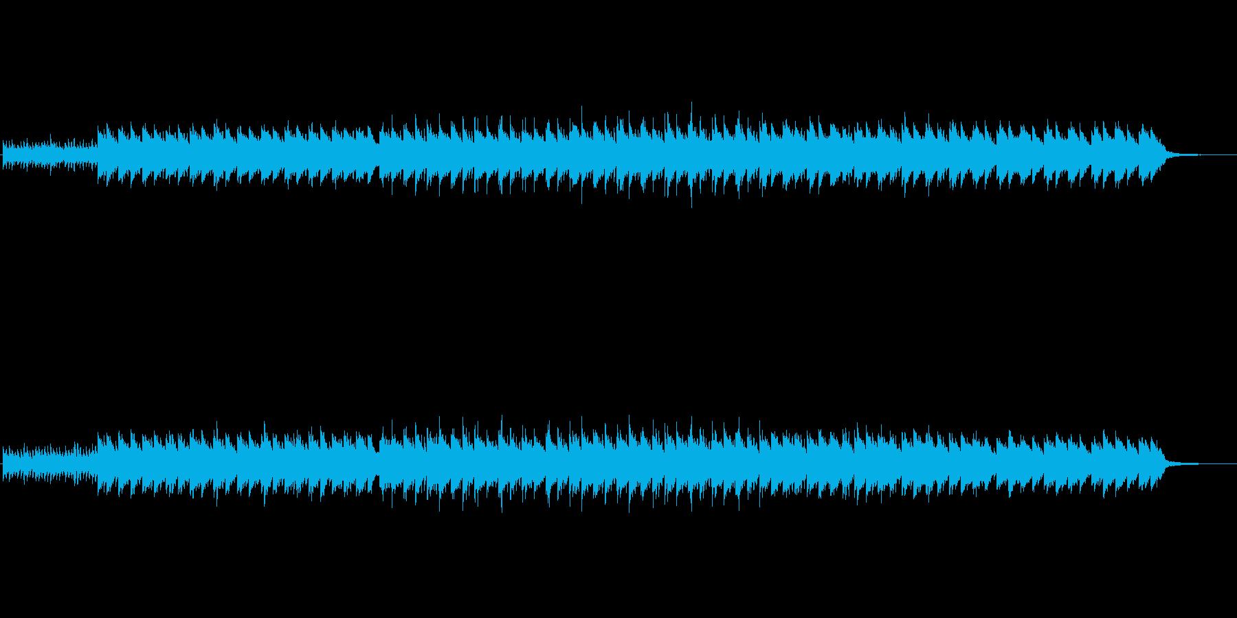 怪しげなゆっくりとしたBGMの再生済みの波形