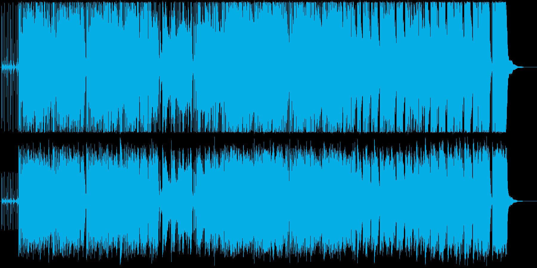 アイリッシュ、ケルト風の笛メインの曲の再生済みの波形