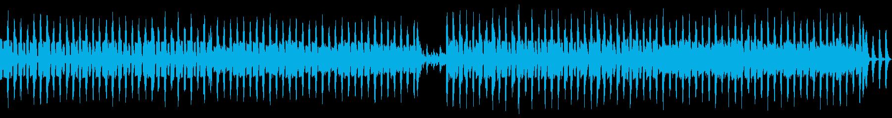 近未来的なイメージの曲の再生済みの波形