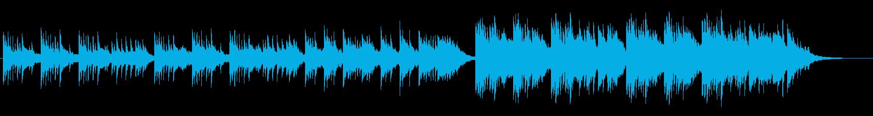 ピアノメインの切ない感じの曲の再生済みの波形