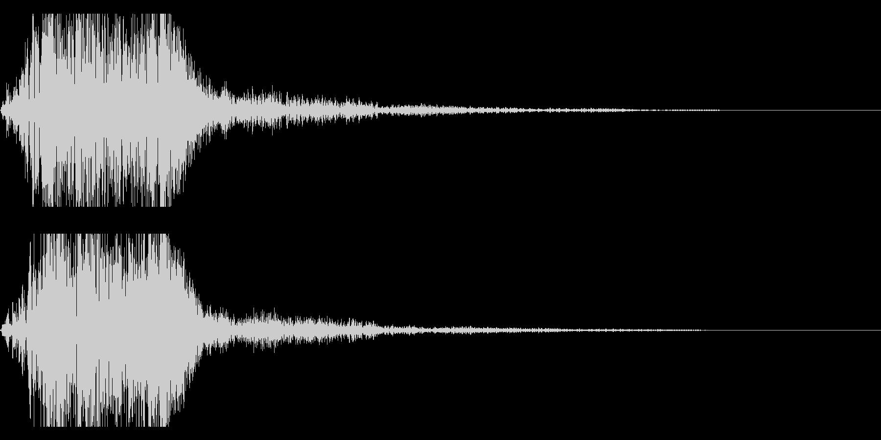 プシューンと高速移動・瞬間移動の未再生の波形