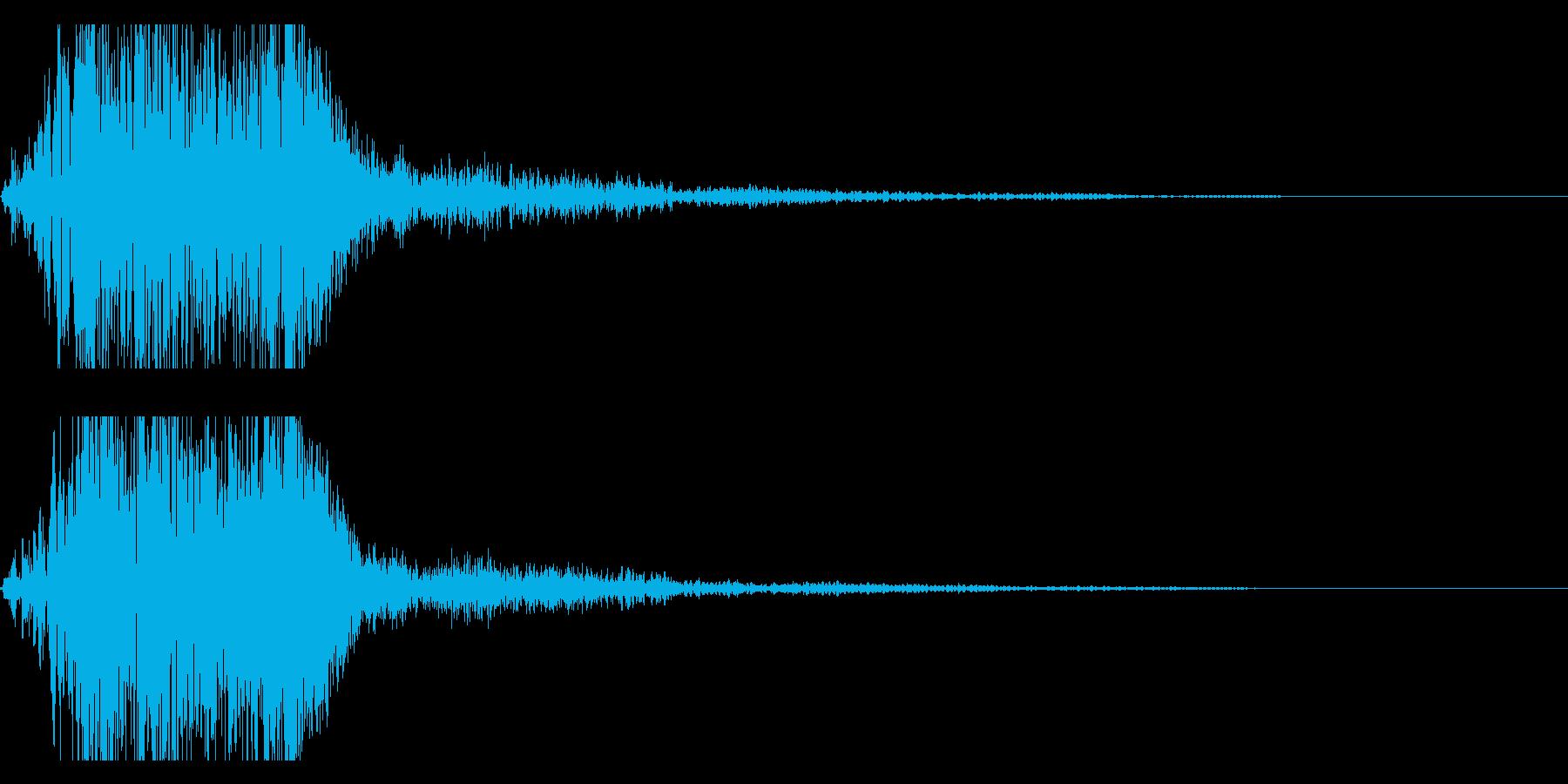プシューンと高速移動・瞬間移動の再生済みの波形