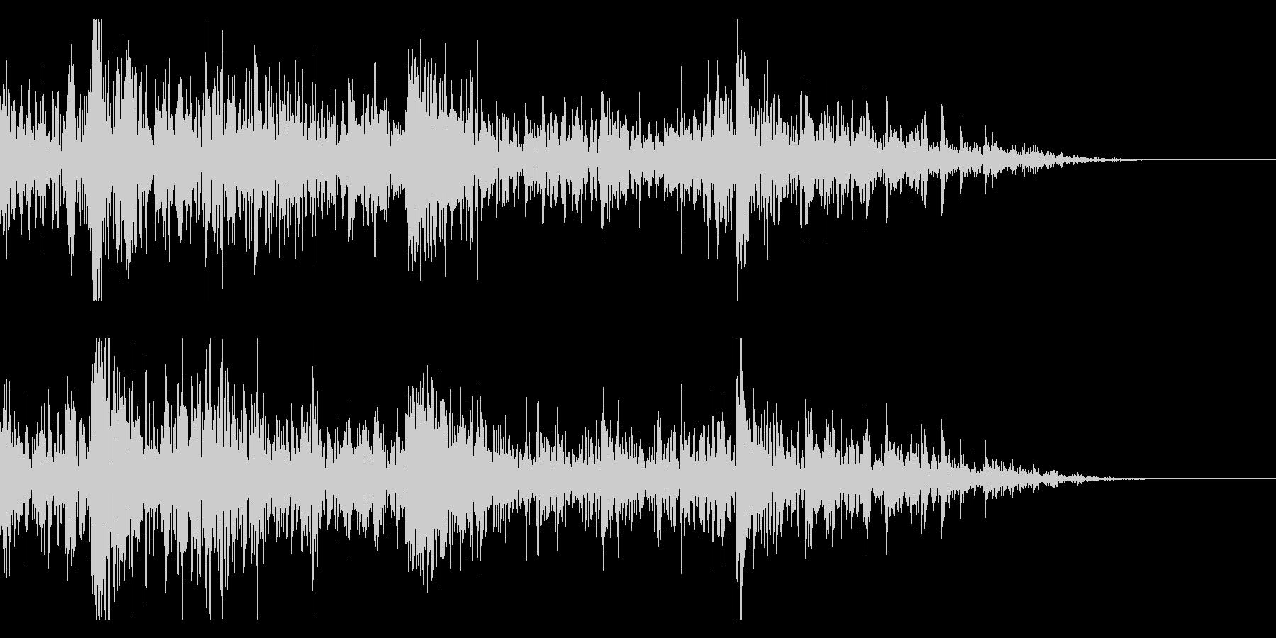 ドンパァ〜花火の本当にリアルな効果音12の未再生の波形
