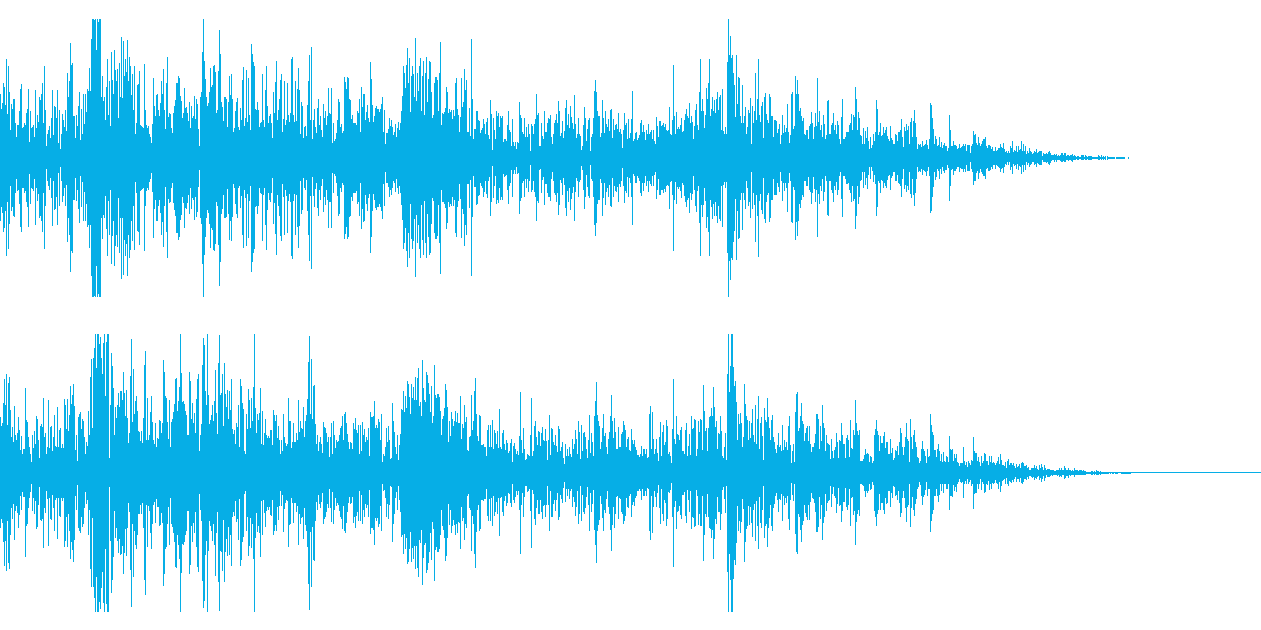 ドンパァ〜花火の本当にリアルな効果音12の再生済みの波形