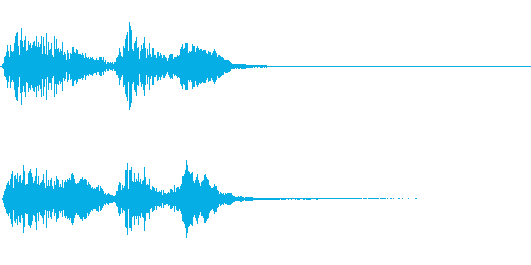 [効果音]発覚、急展開、転換の再生済みの波形