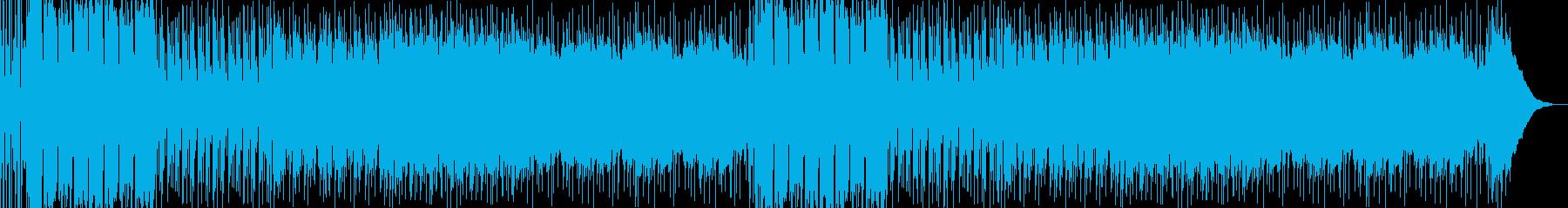 ロックなBGMの再生済みの波形