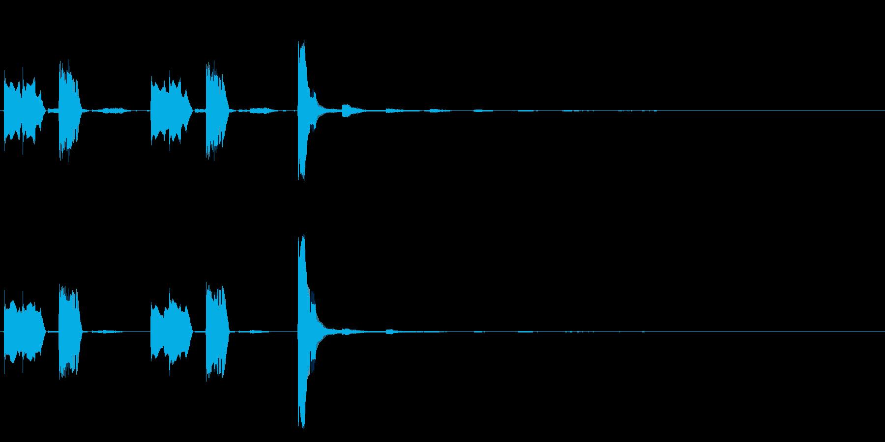 コミカルで明るく切れの良いサウンドロゴの再生済みの波形