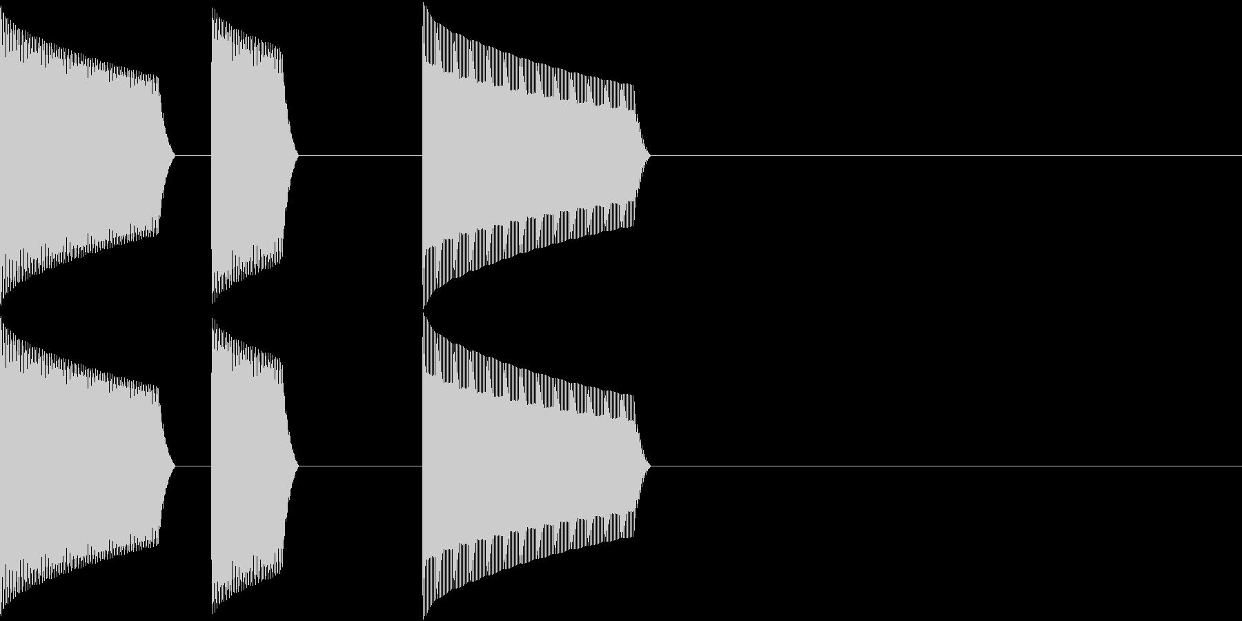 ATM 操作音 5の未再生の波形