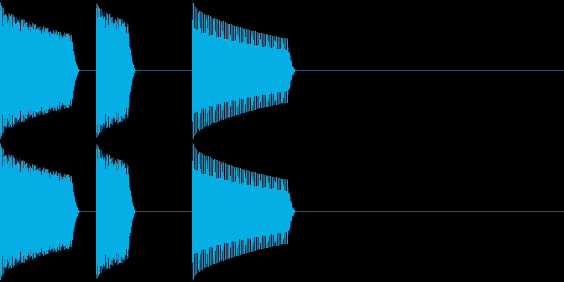 ATM 操作音 5の再生済みの波形
