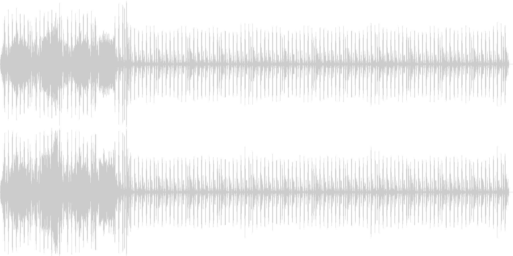 ラジオ用の明るいジングルです。の未再生の波形