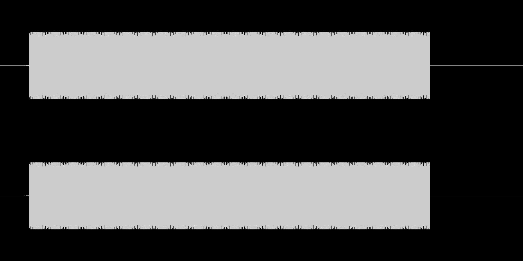 131_放送禁止音1秒 俗にいうピー音の未再生の波形