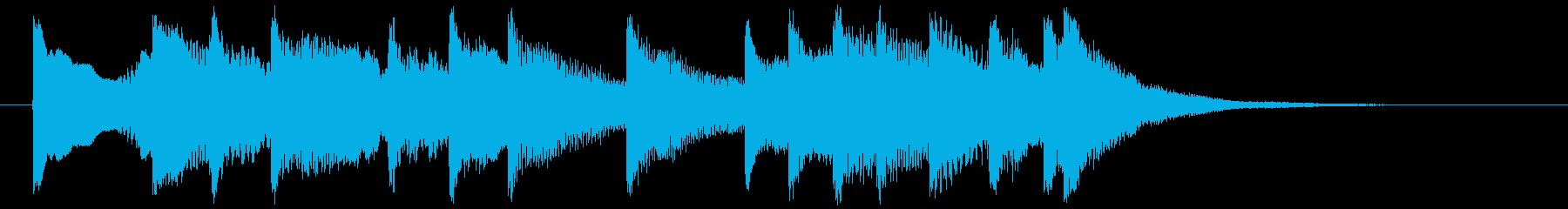 琴・尺八の純和風サウンドジングルの再生済みの波形