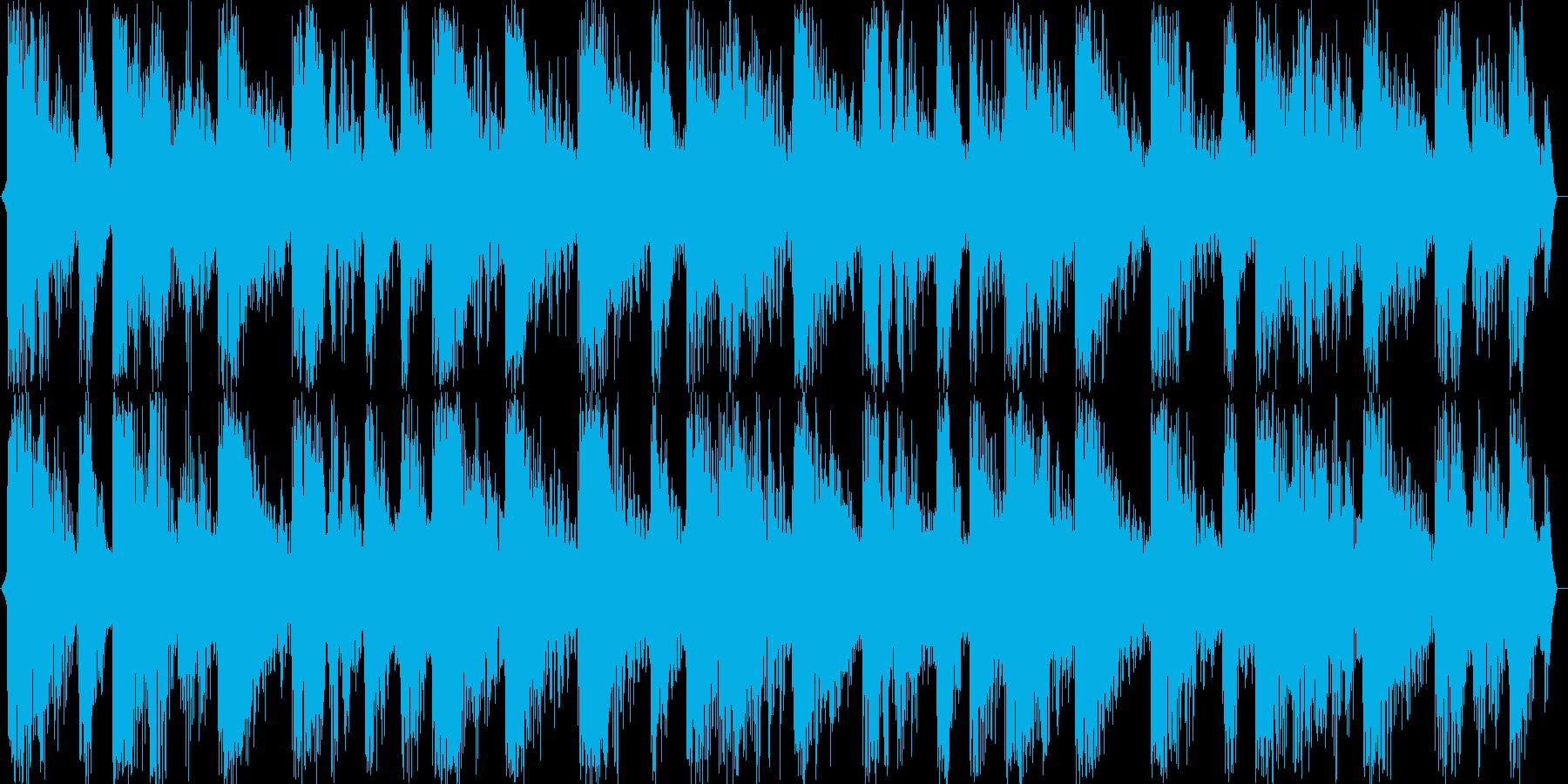 ハウスチューンな音源の再生済みの波形