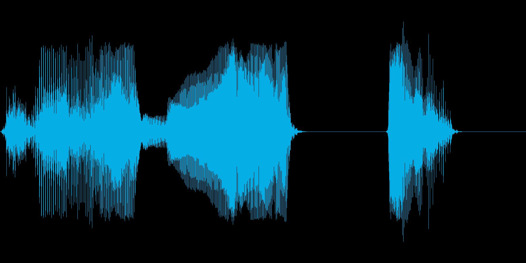 タイムアップの再生済みの波形