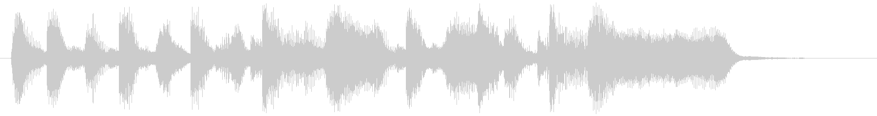 ブラス&サックスのハッピーサウンドロゴの未再生の波形