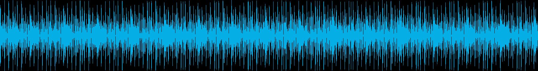 シンプルなテクノ風のシンキングタイムの再生済みの波形