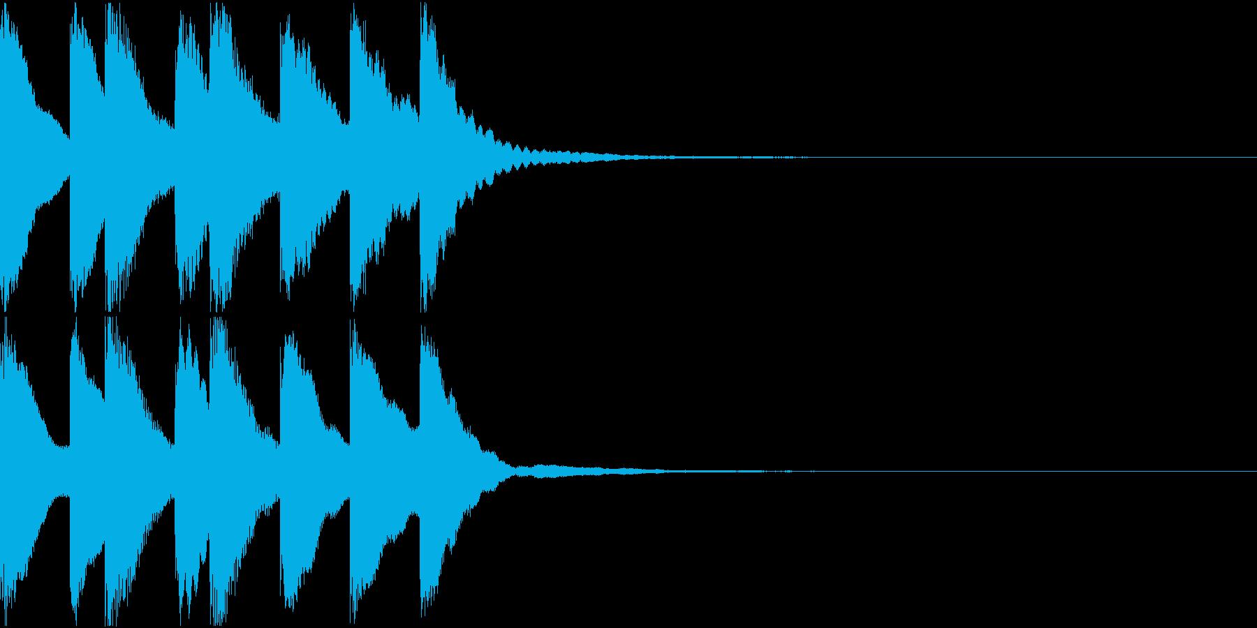 シンプル ベル チャイナ 中国風 15の再生済みの波形