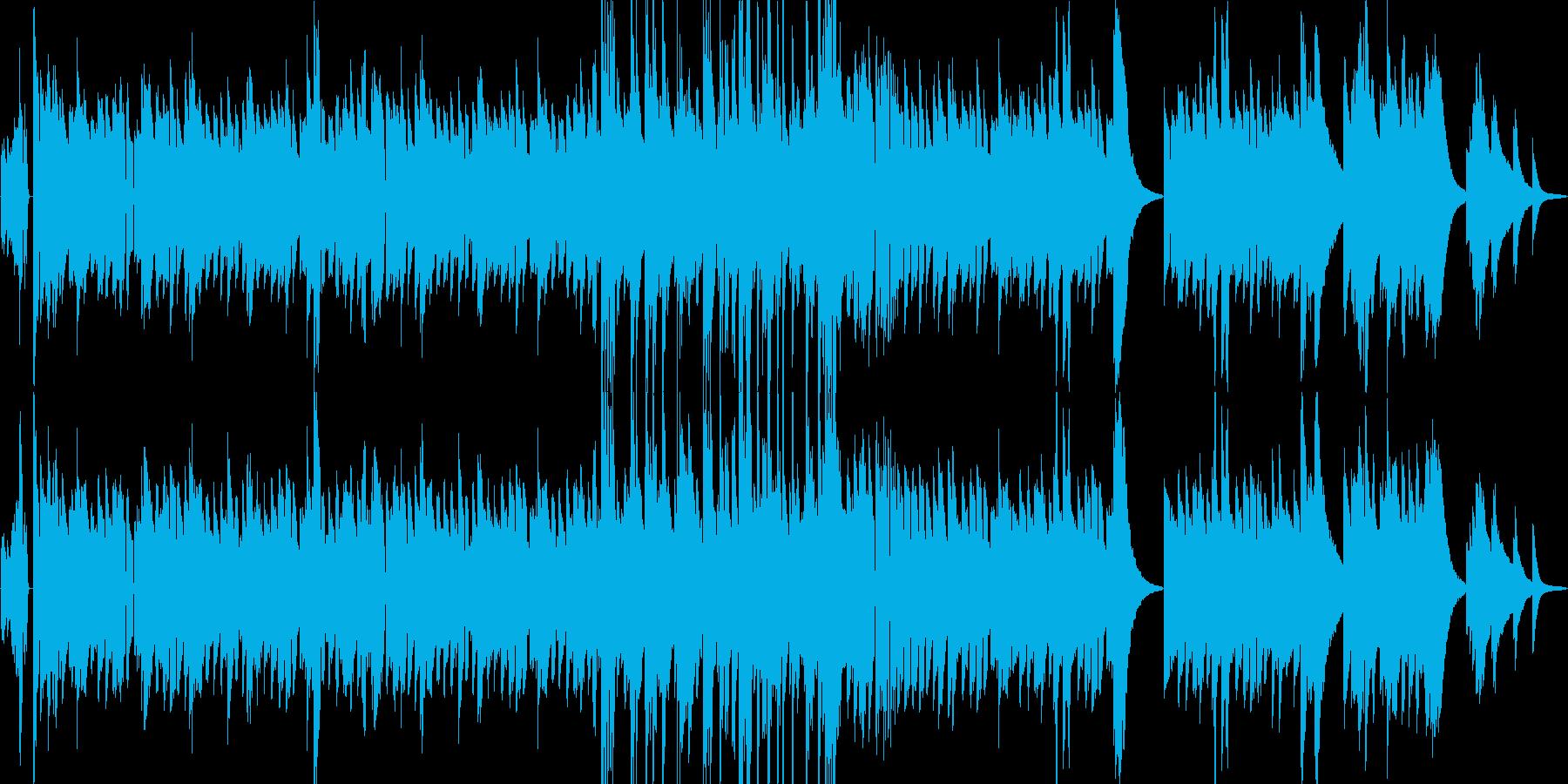 オシャレなブルース ビンテージピアノ曲の再生済みの波形