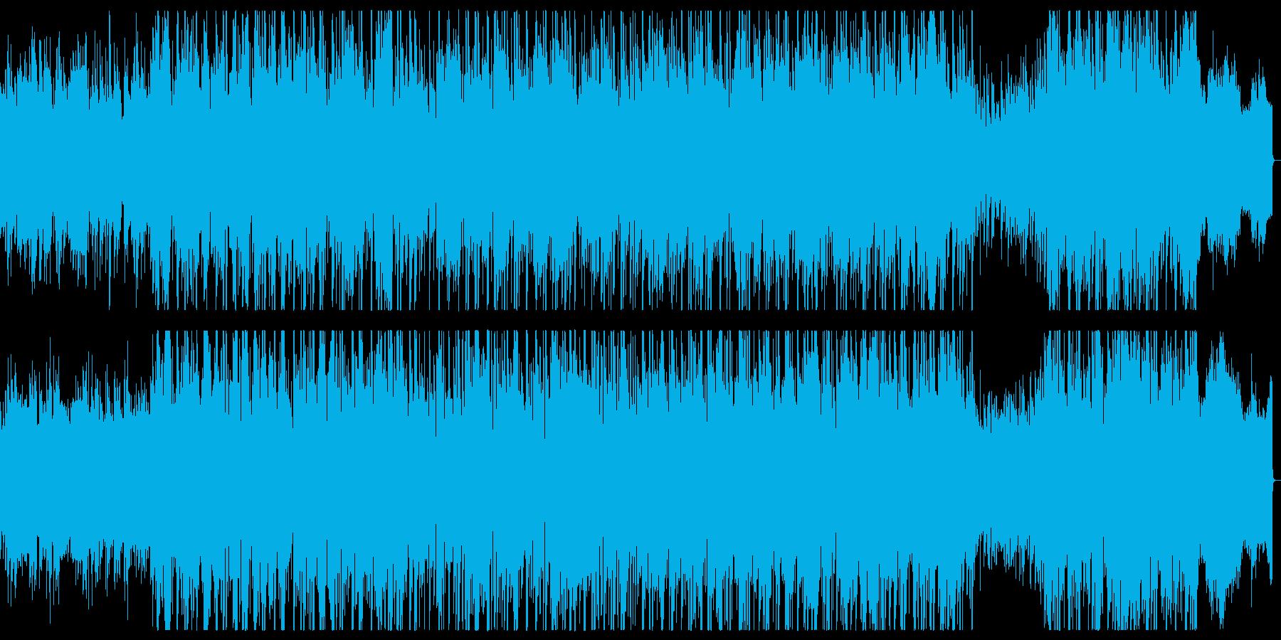 ピアノとレトロなシンセの和風なバラードの再生済みの波形