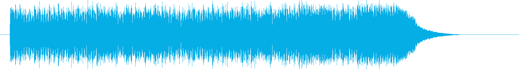 メロディアスなデジタルロックの再生済みの波形