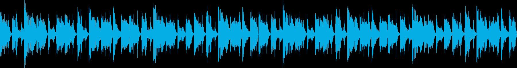 うねりのあるベースが印象的なBGMの再生済みの波形