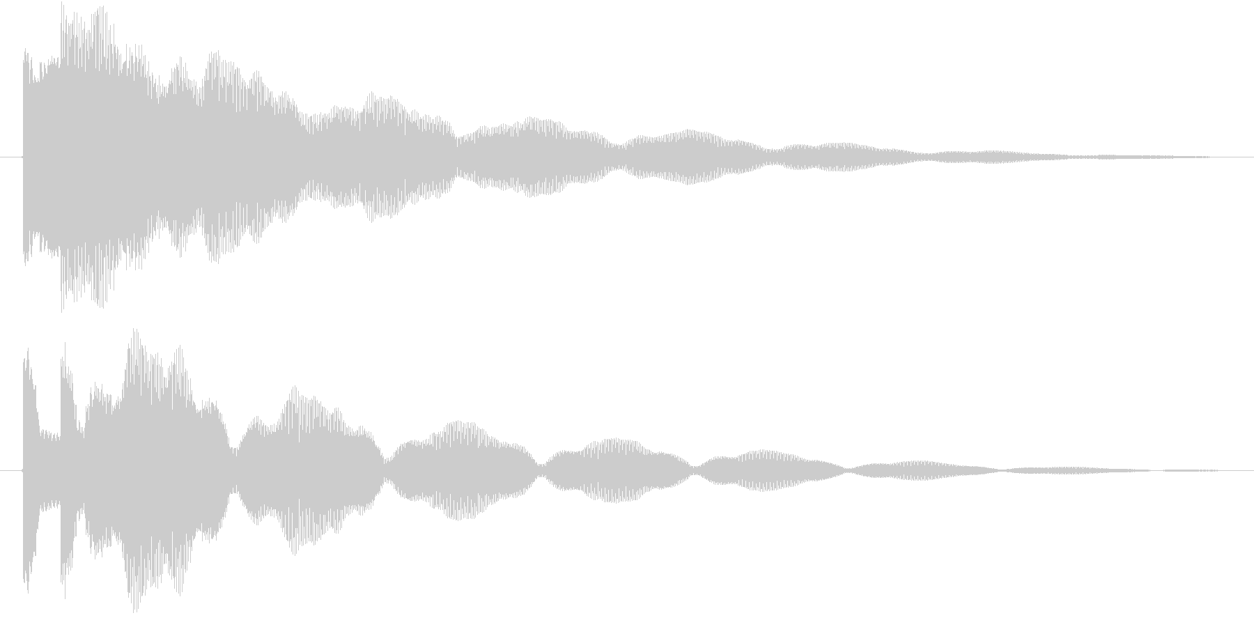 ティトーン(ベル)の未再生の波形
