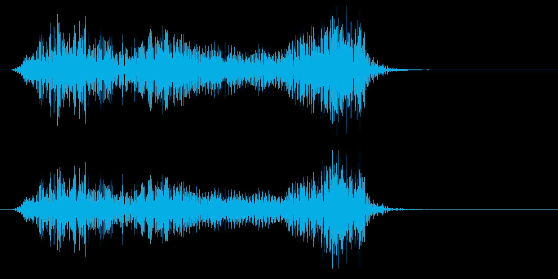 【男声】うぉおお!の再生済みの波形