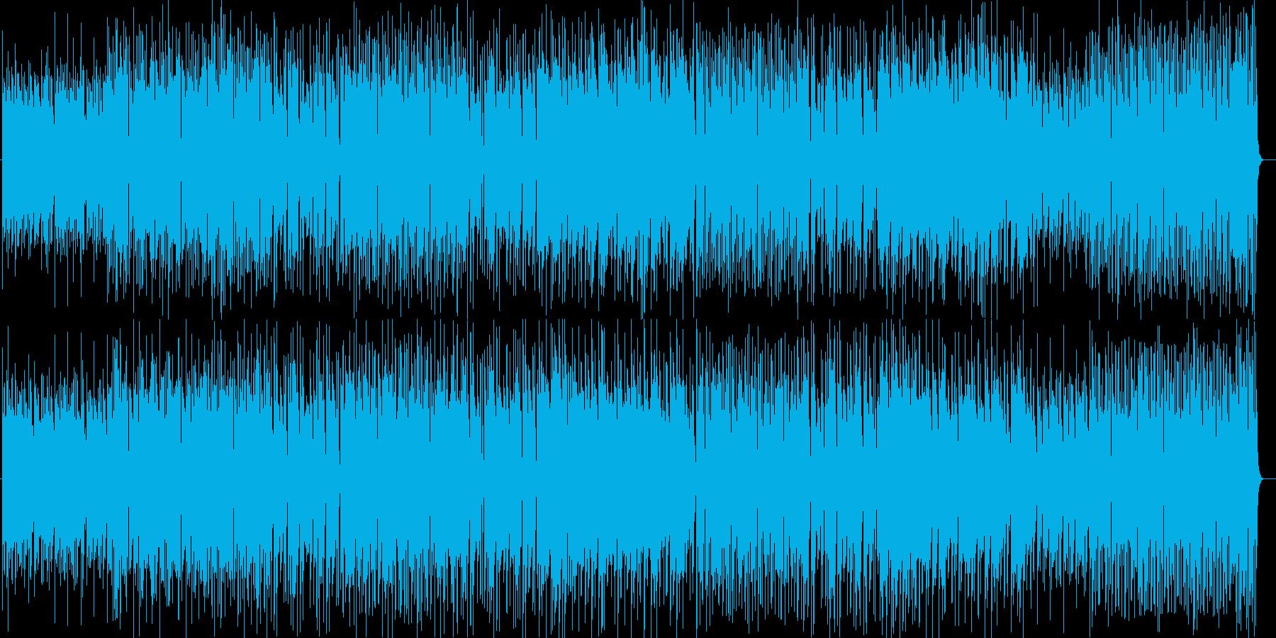 夜景とカクテルジャジーなシンセサウンドの再生済みの波形