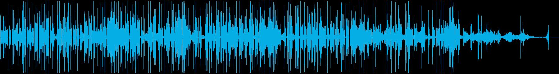 様々な金属音で構成されたテクノポップの再生済みの波形
