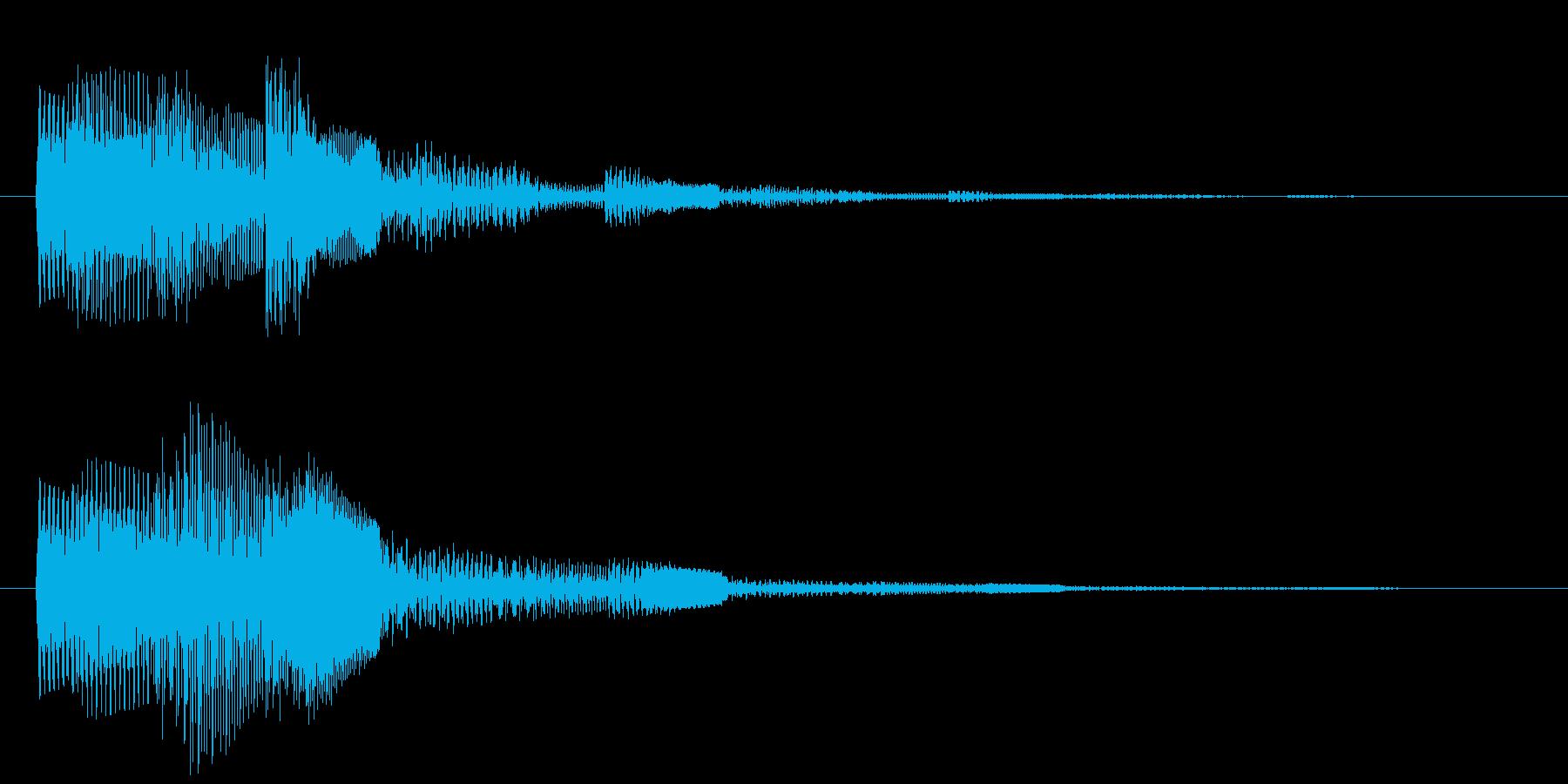 カウントダウン 単発 決定 選択 タララの再生済みの波形