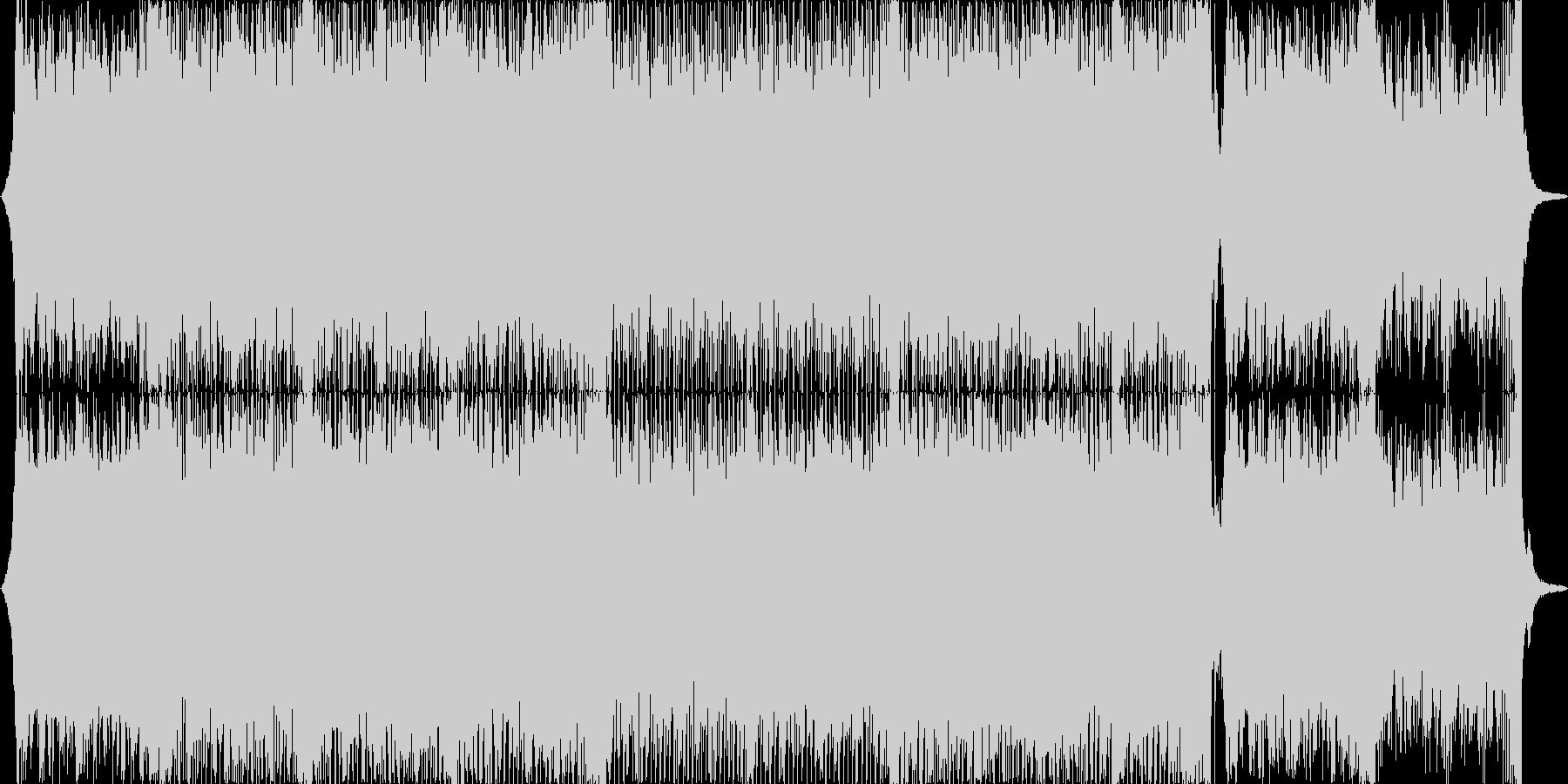 ゲームのボーナスステージ的ハッピーBGMの未再生の波形