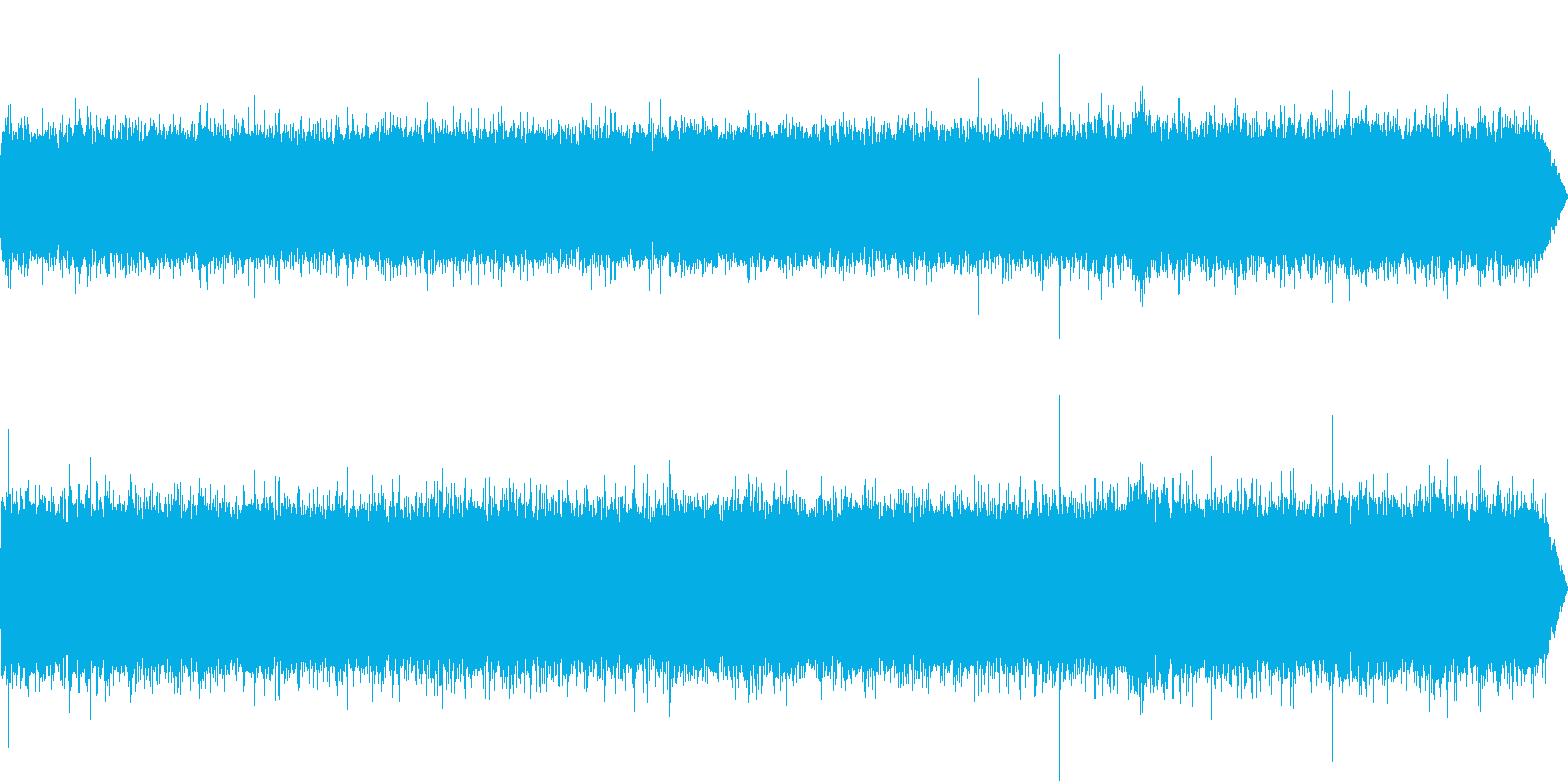 夏、湧き水の音+アブラゼミの鳴き声の再生済みの波形
