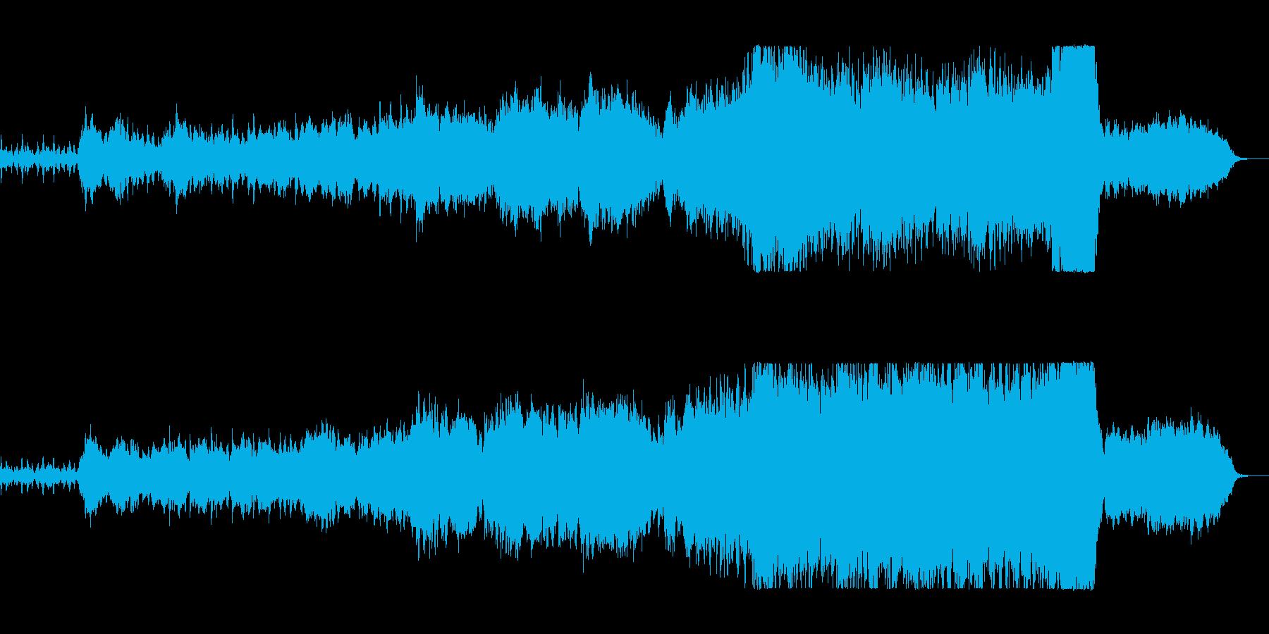 壮大で寛大なオーケストラサウンドの再生済みの波形