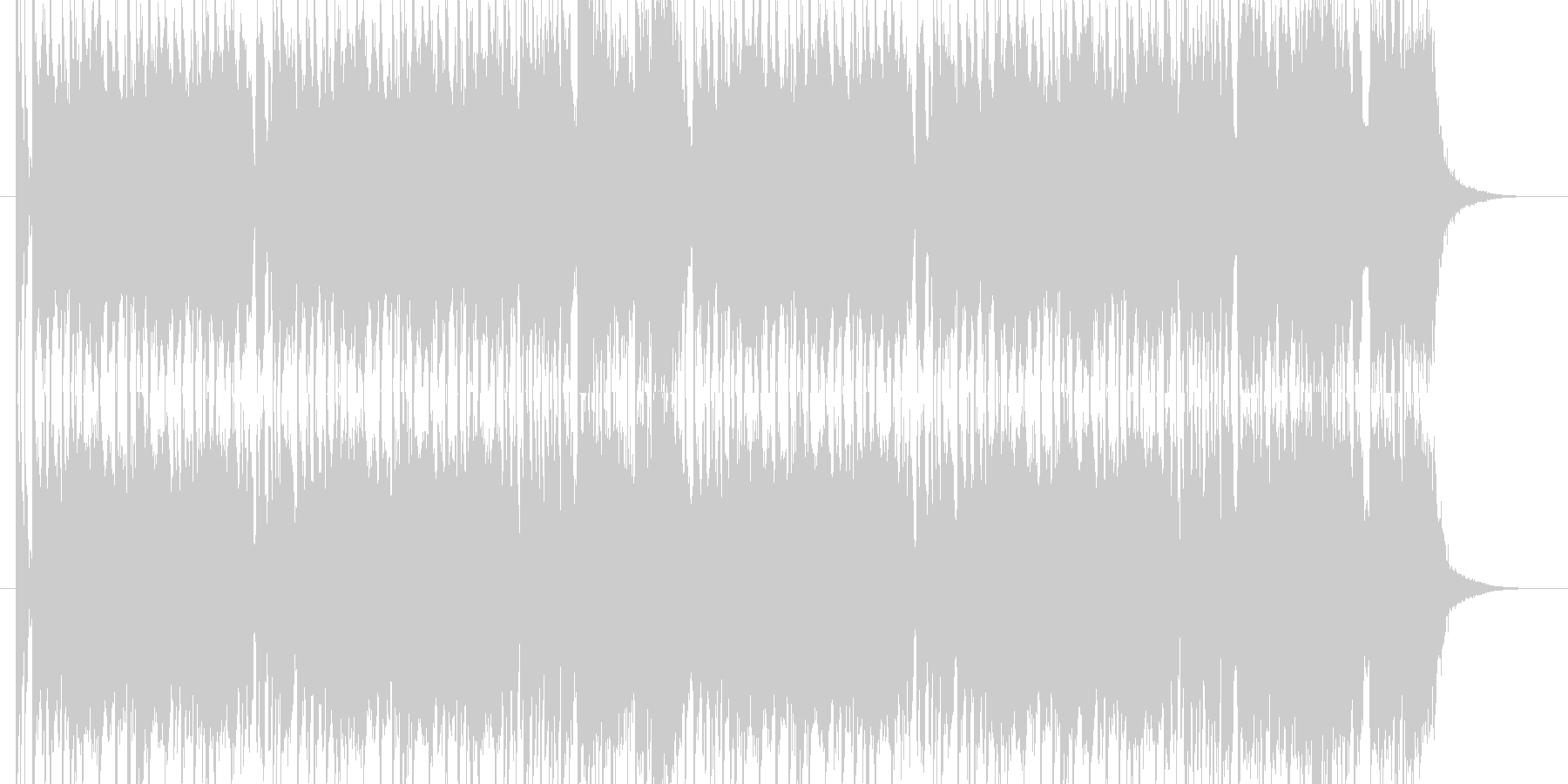 ワクワクするようなロックサウンドの未再生の波形
