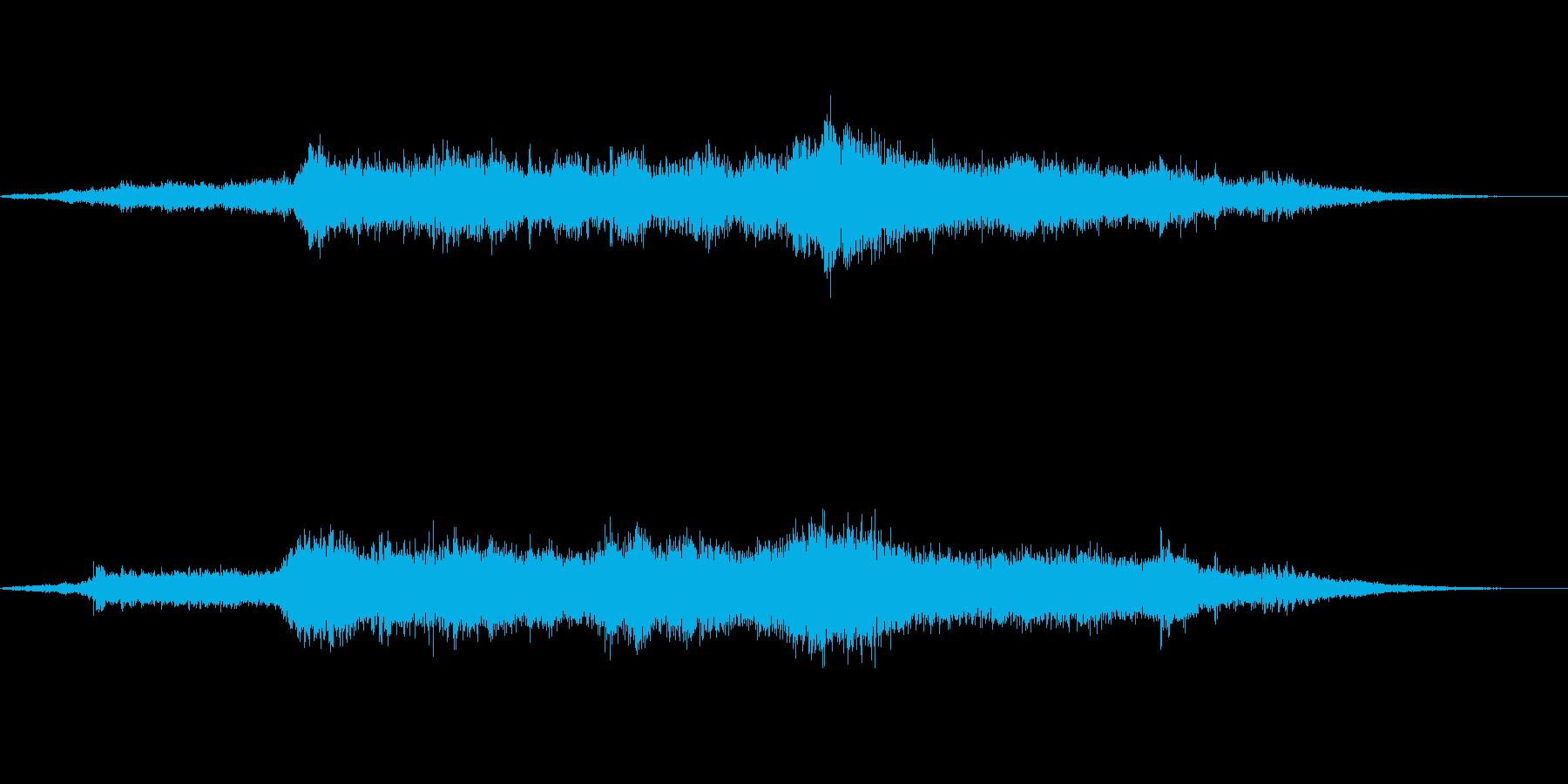 宇宙空間の再生済みの波形