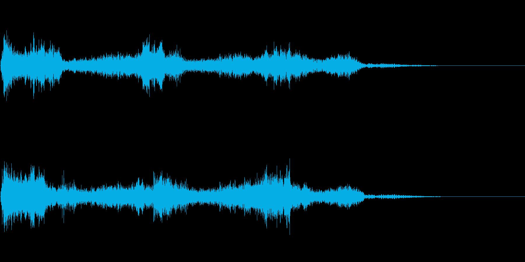 汎用的な魔法音(音程低め)の再生済みの波形