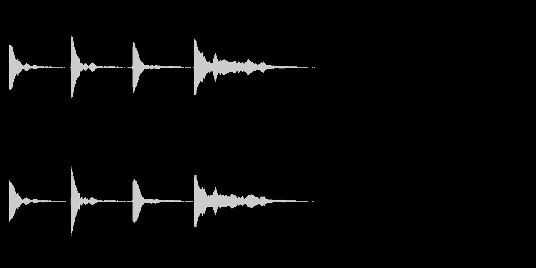 カウントダウン効果音その2_keyCの未再生の波形