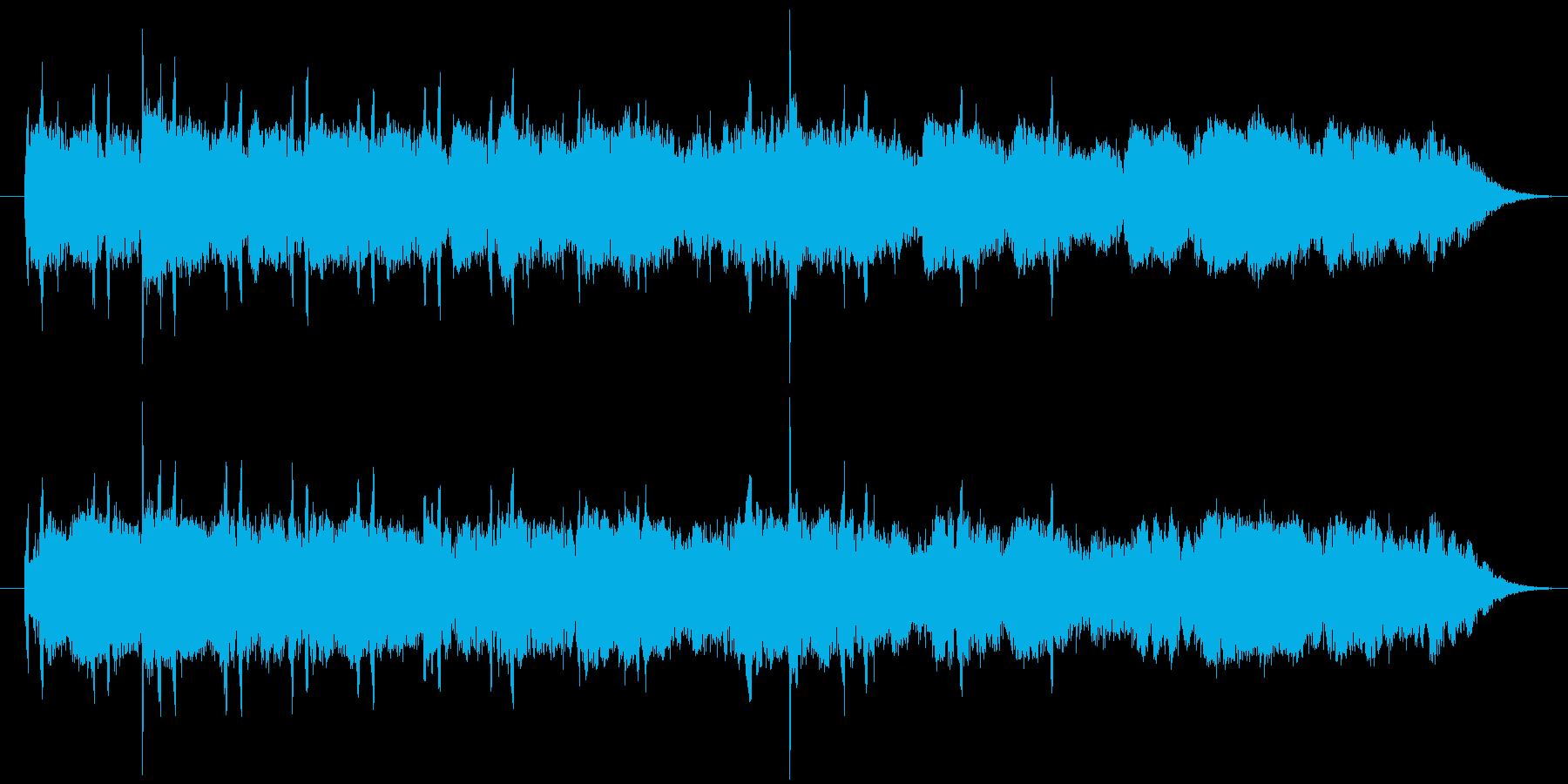 調性のないノイジーで不気味なサウンドの再生済みの波形