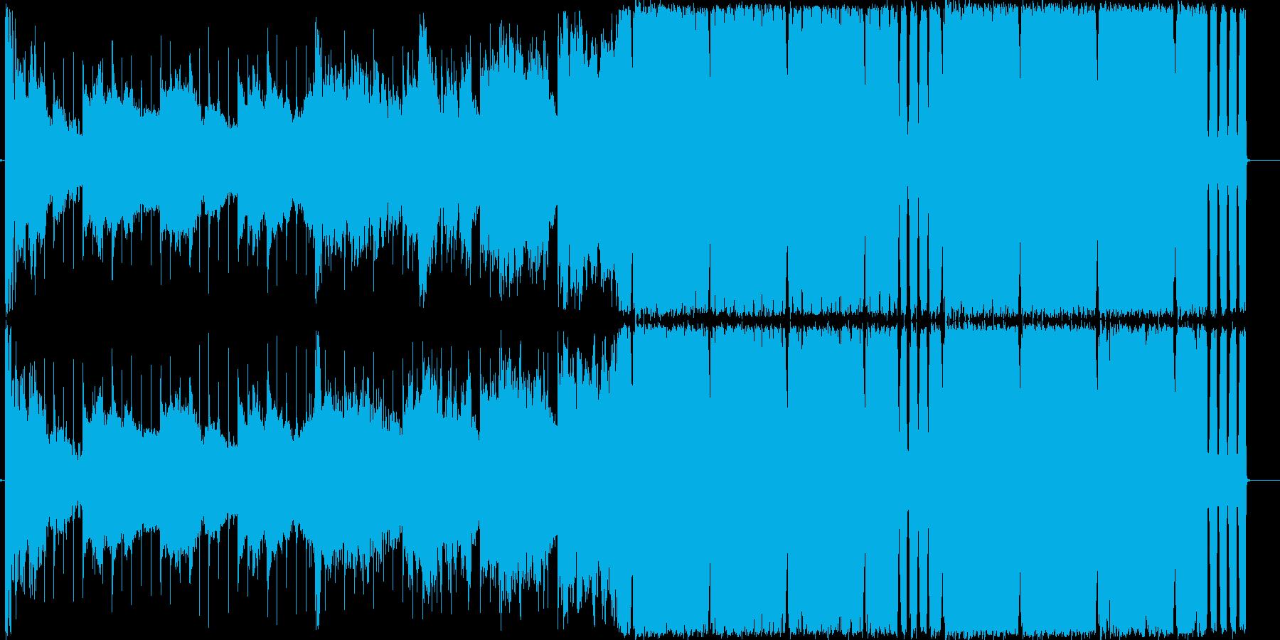 4つ打ちハウス/EDMのお洒落な曲の再生済みの波形