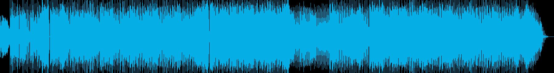 シンセのシーケンスが印象的なダンス曲の再生済みの波形