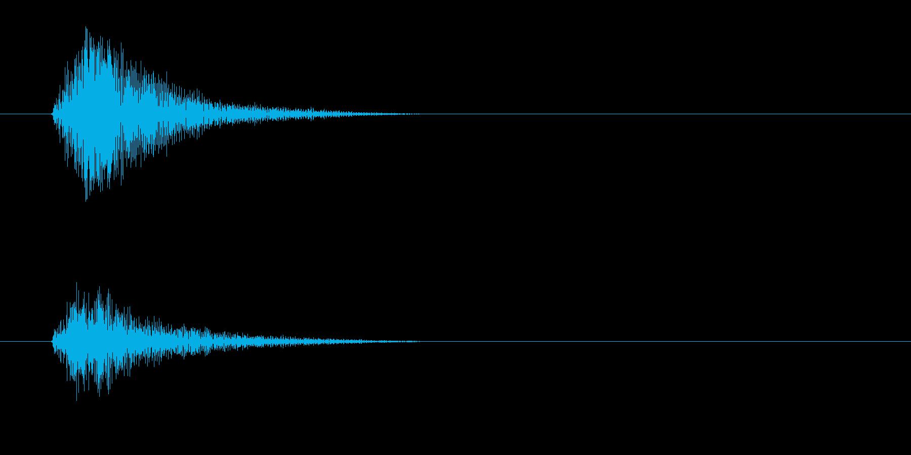 チッ(金属を軽く叩く高音)の再生済みの波形