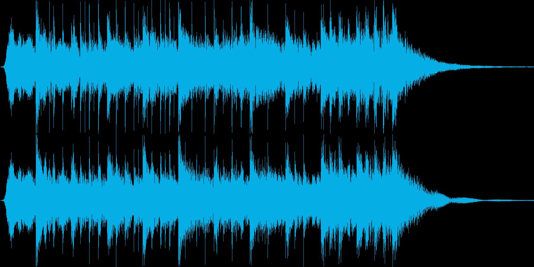 渋め和風サウンドロゴ・カウントダウンの再生済みの波形