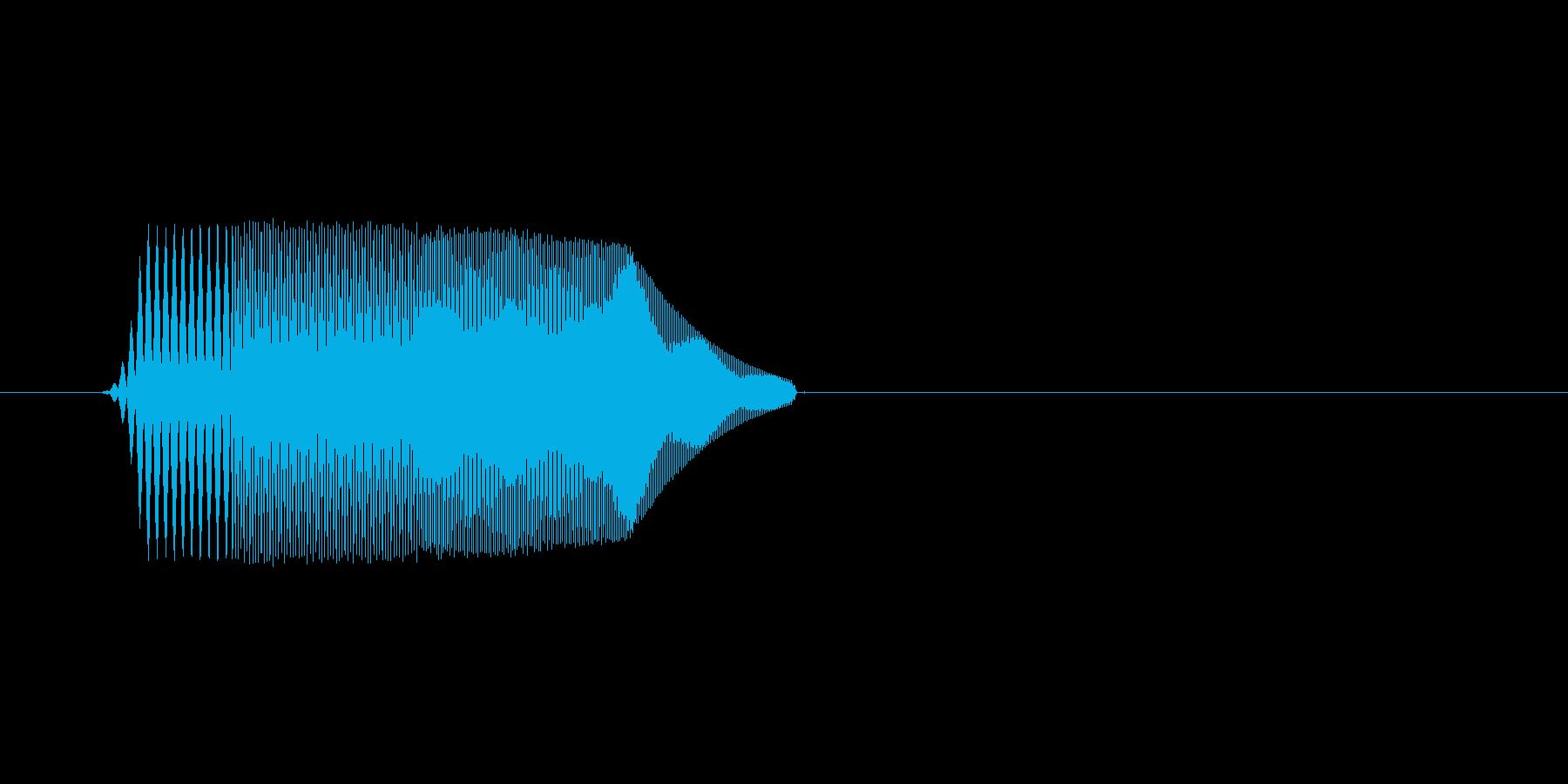 ファミコン風効果音決定音系です 09の再生済みの波形