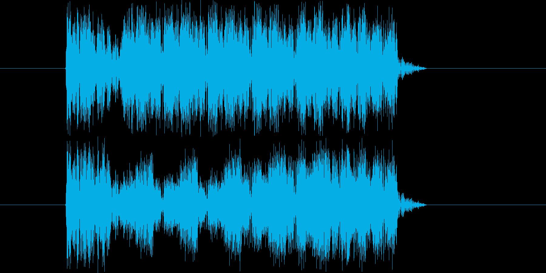 何かが飛んでいるイメージの再生済みの波形