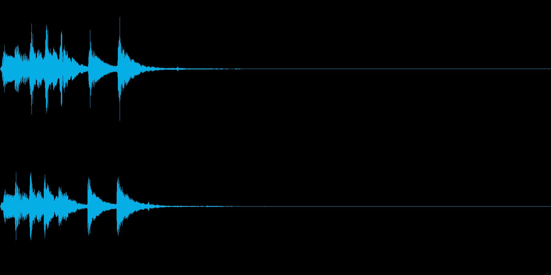 場面転換用~明るいマリンバのフレーズ~の再生済みの波形