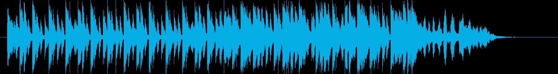 おしゃれなテクノポップスの再生済みの波形