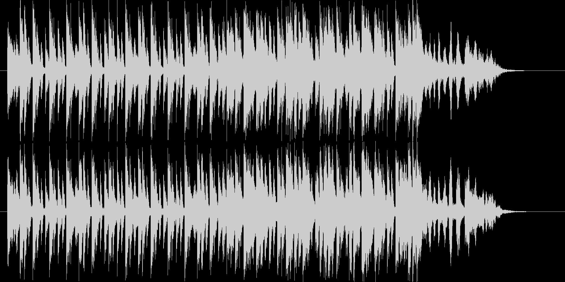 おしゃれなテクノポップスの未再生の波形