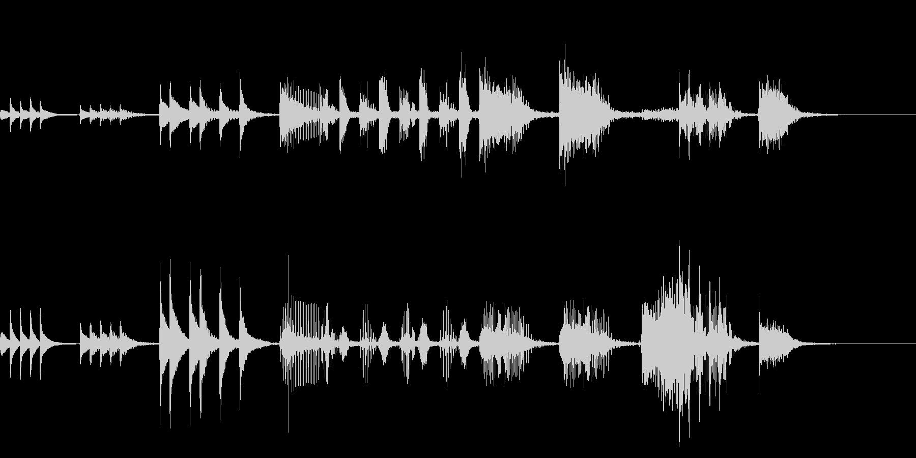 木琴によるコミカルなジングルの未再生の波形