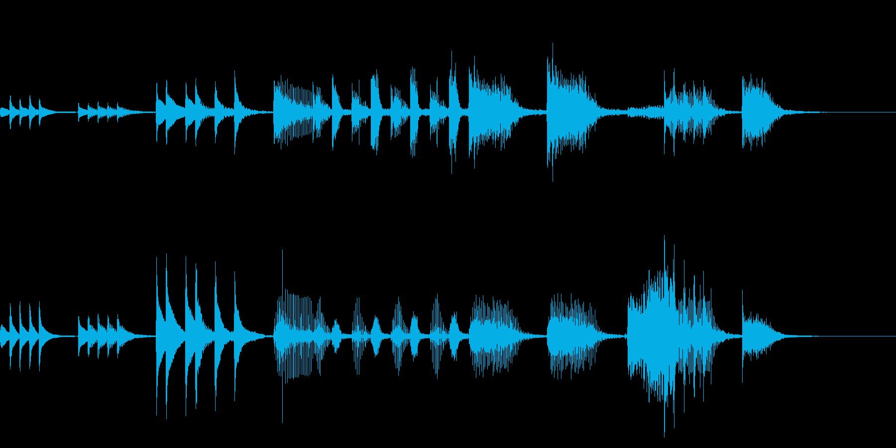 木琴によるコミカルなジングルの再生済みの波形