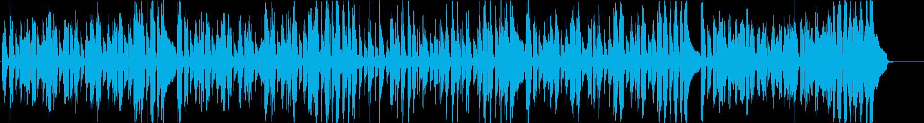 軽快な口笛とウクレレの再生済みの波形